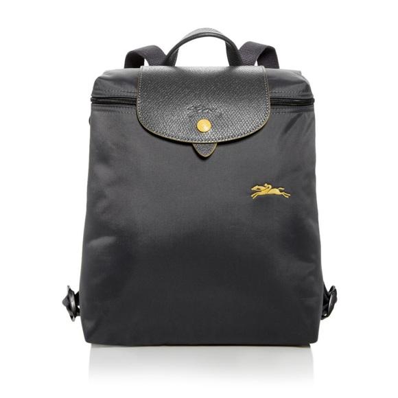 87db56cfa3599 NWT Longchamp Gray Le Pliage Club Backpack